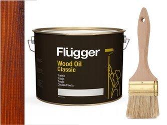 Flügger Wood Oil Classic olej do TARASU 10L TEAK