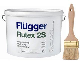 Flugger farba antyrefleksyjna FLUTEX 2S BIAŁA 3 L