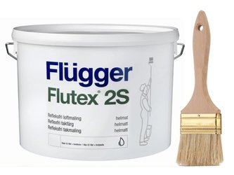 Flugger farba antyrefleksyjna FLUTEX 2S CZARNY 10L