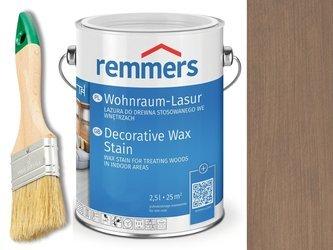 Lazura woskowa Remmers do wnętrz 2,5 L SZARY 2308