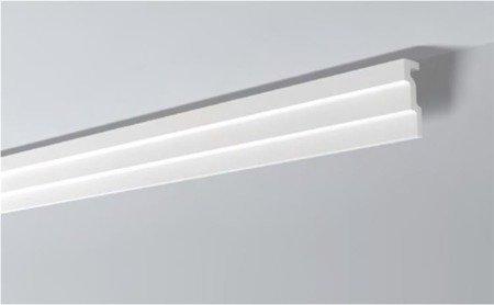 LISTWY PRZYSUFITOWE Białe NOMASTYL M1 120x30mm