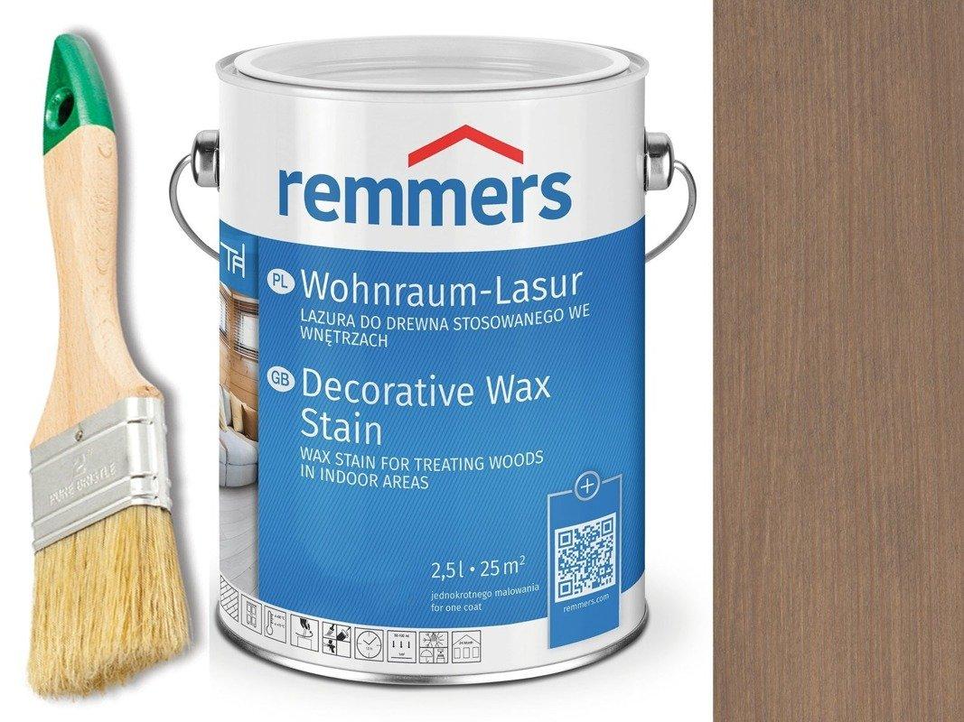 Lazura woskowa Remmers do wnętrz 0,75 L SZARY 2308