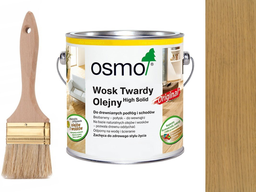 OSMO 3062 wosk twardy olej 2,5 L BEZBARWNY MAT