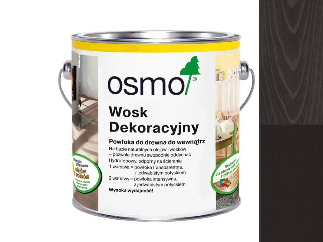 OSMO 3169 wosk dekoracyjny CZARNY 0,75L