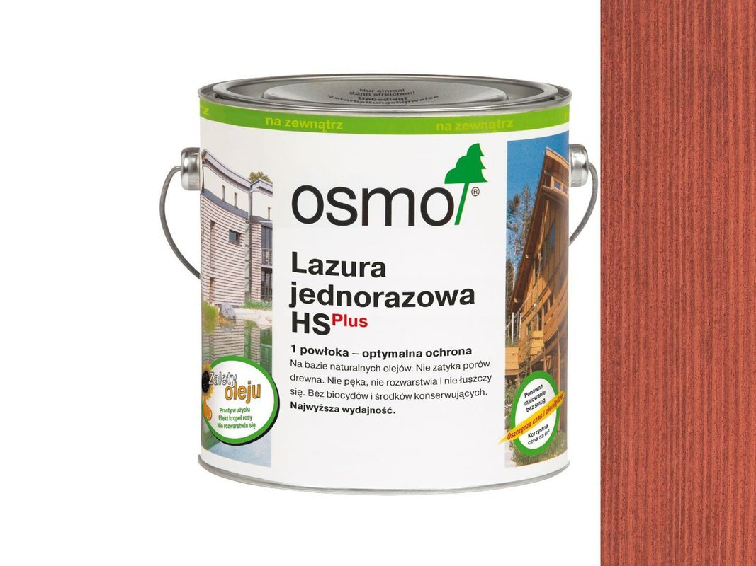 OSMO Lazura Jednorazowa 9234 CZERWIEŃ 125ml